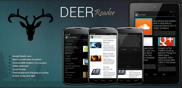 Android app feeds Google Google Reader holo