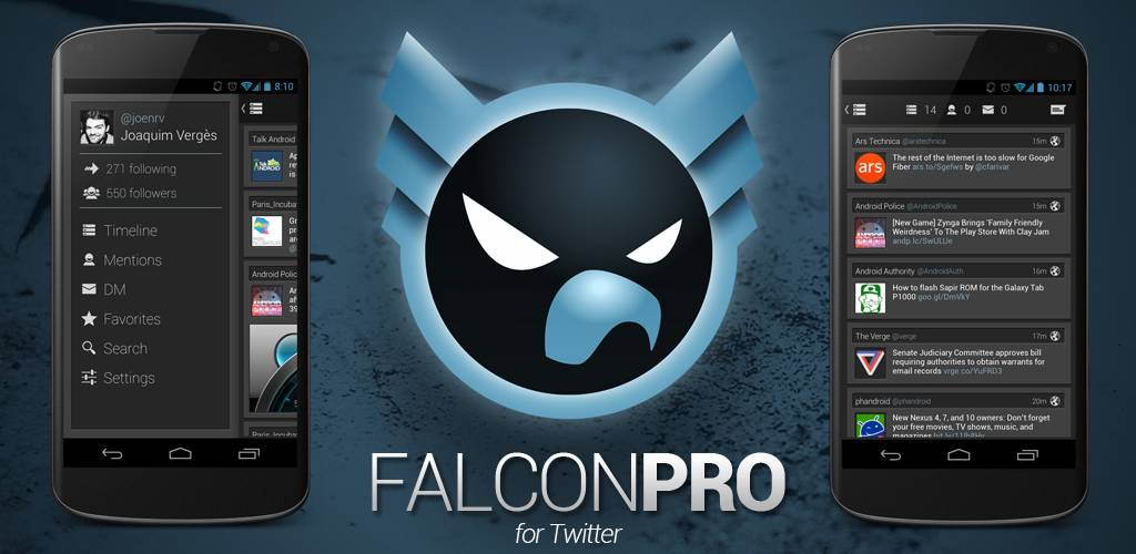 Android Falcon Pro twitter
