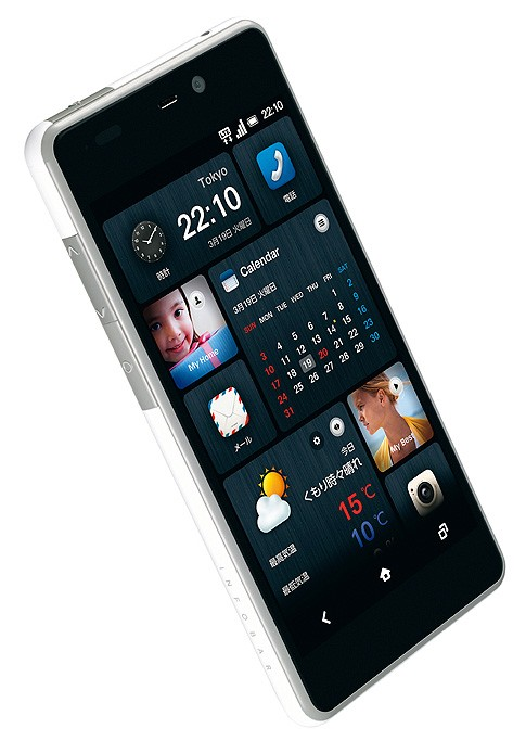 Google HTC Infobar Smartphone user interface