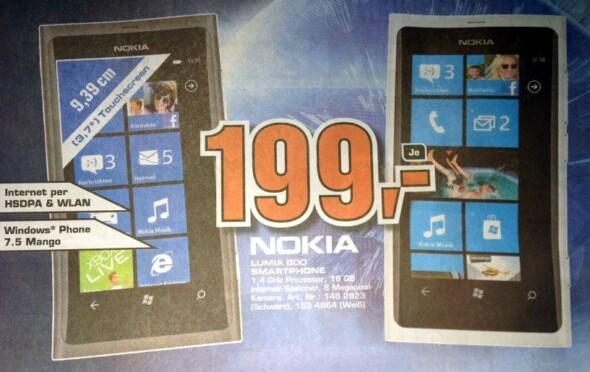 Lumia Lumia 800 Nokia Windows Phone