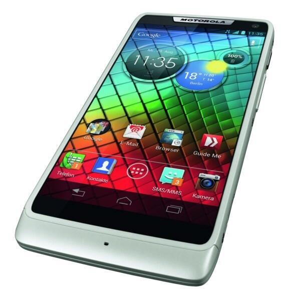 Android Motorola razr i Smartphone weiß
