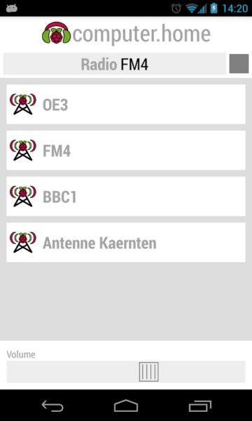 airplay Android Android app Devs & Geeks dlna Raspberry Pi Webradio