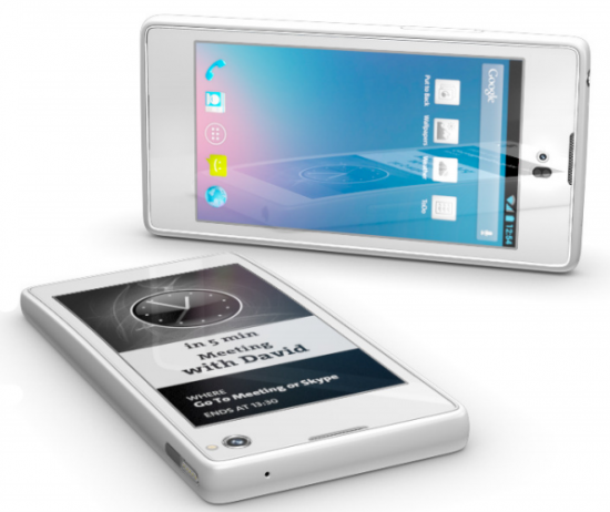 Android e-ink videos YotaPhone