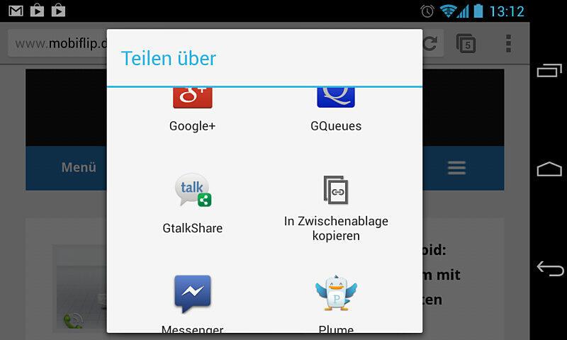 Android Google google talk Gtalk share talk teilen