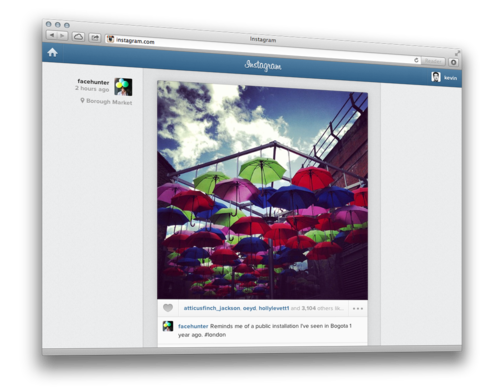 Android Browser feed instagram iOS user