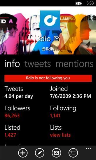 app twitter Windows Phone