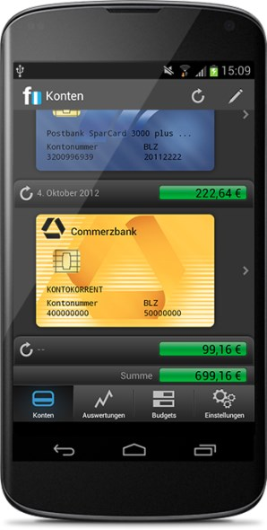 Android app beta Finanzen