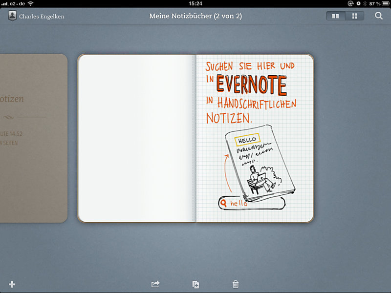 Apple cloud evernote handschrift handschrifterkennung iOS Notizen Sync