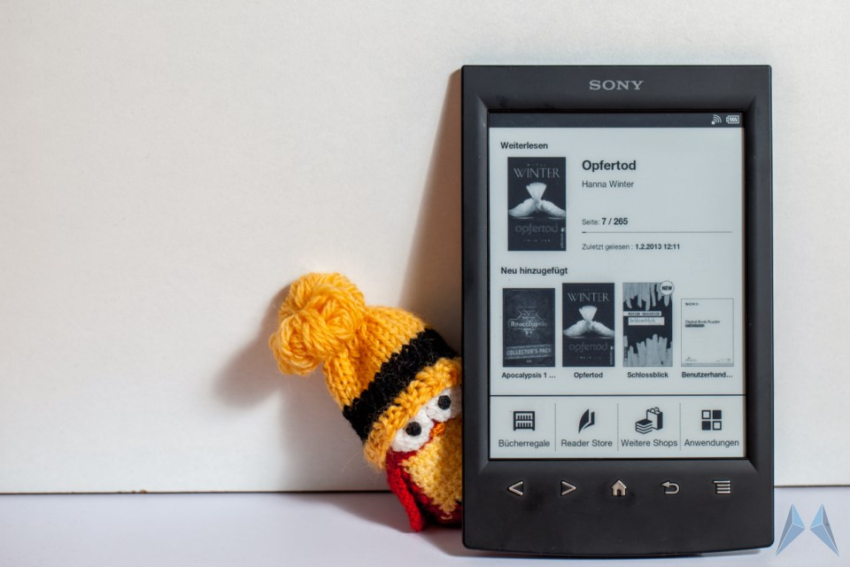 Android ebook eindruck ereader prs-t2 Sony test Unboxing