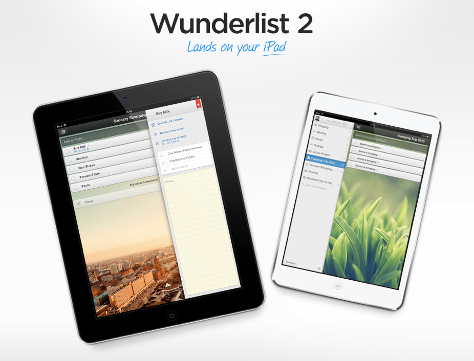 Apple iOS iPad wunderlist