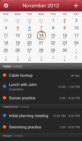 app Apple Fantastical iOS Kalender Update