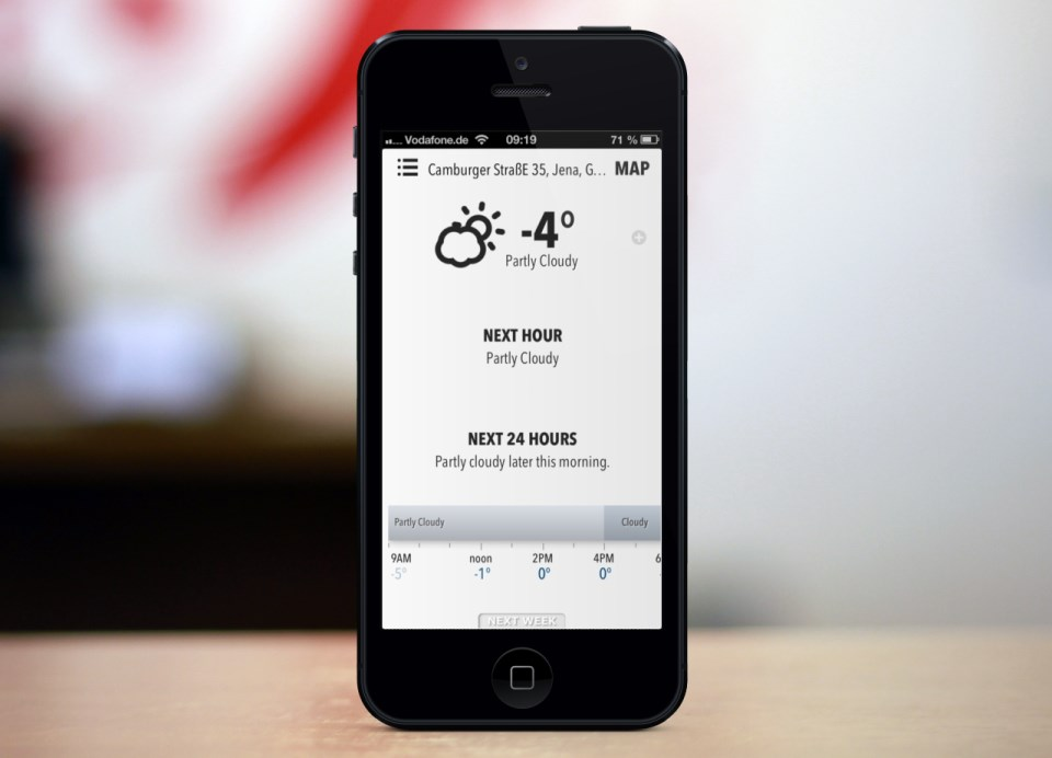 app Apple Forcast.io iOS iphone web webapp