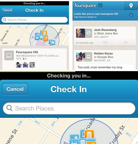 Apple foursquare iOS iphone