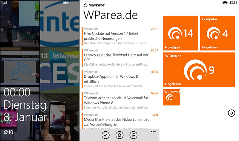 app feeds Google Reader microsoft rss rss reader Windows Phone