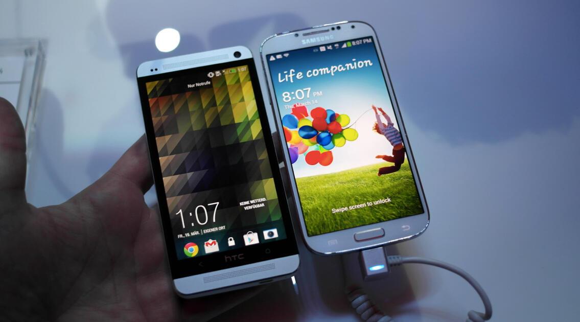 1 Android Galaxy S4 HTC one Samsung test vergleich
