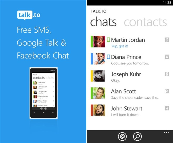 chat facebook Google Messenger social Windows Phone