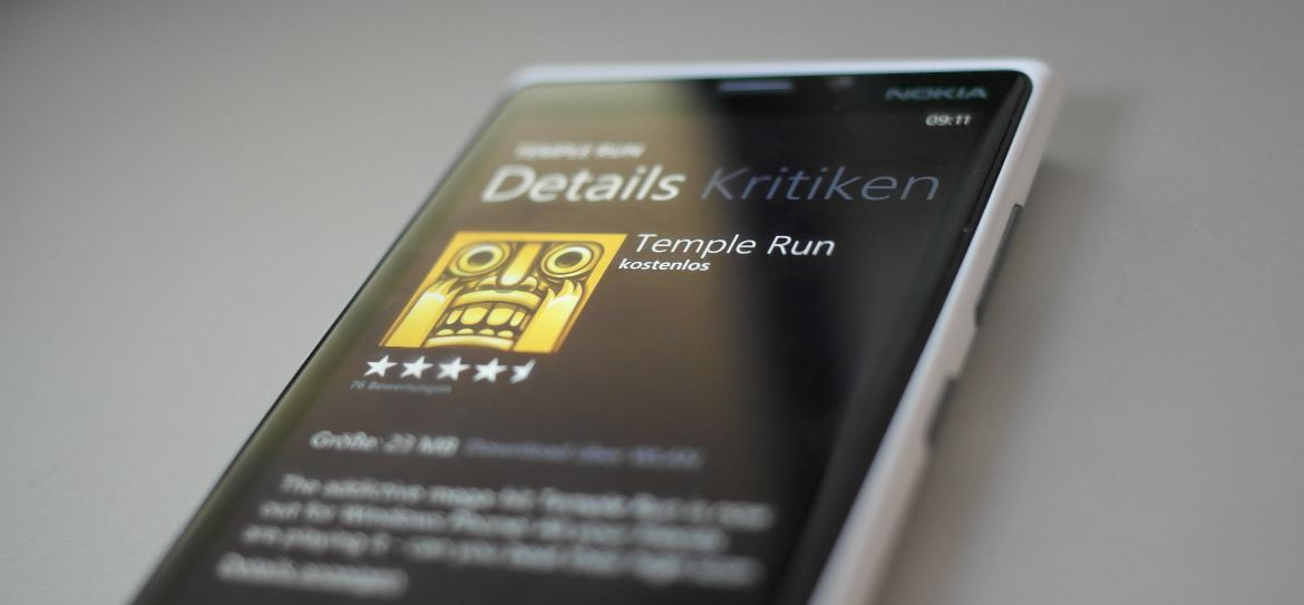 microsoft Temple Run Windows Phone