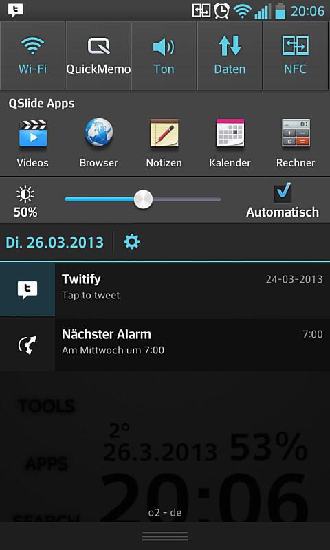 Android app Benachrichtigungsleiste dashclock Google notification social twitter