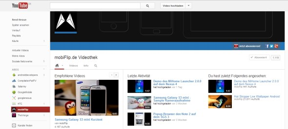 kanal YouTube