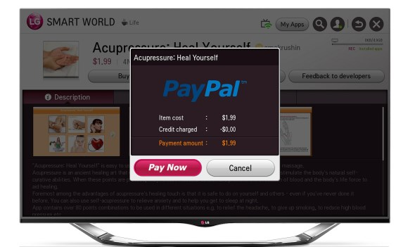 LG paypal smart tv TV