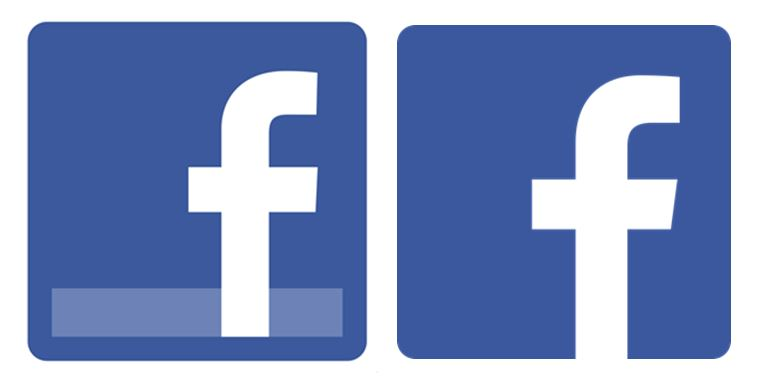 blau facebook icon logo