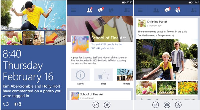 beta facebook social Windows Phone