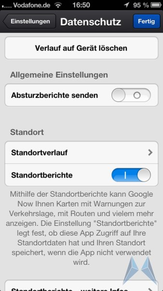 Google iOS now