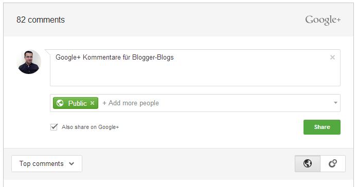 blogger Google google plus social