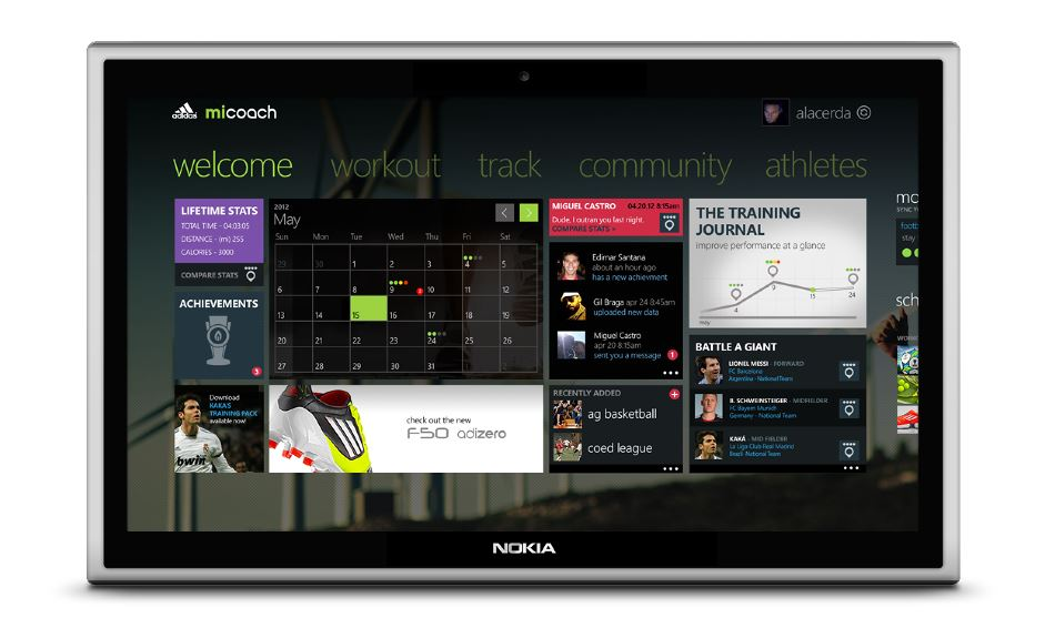 Konzept Nokia tablet Windows