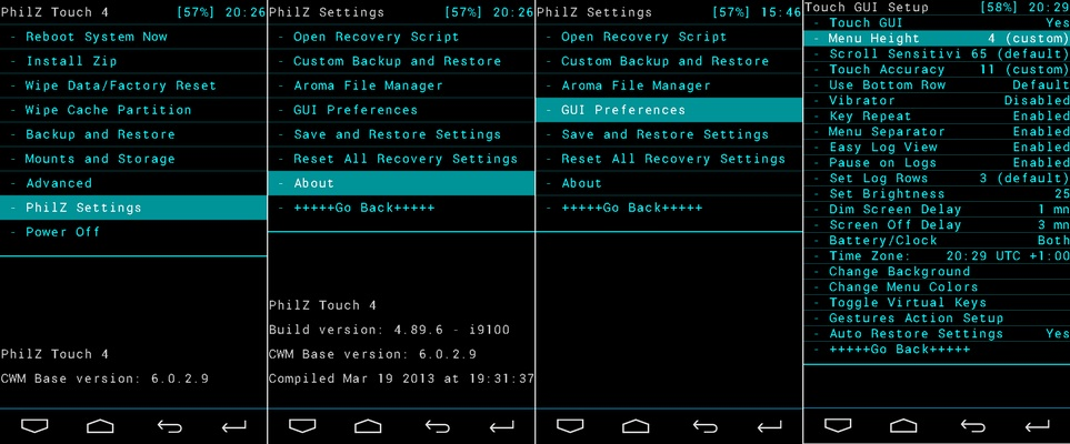 Android CWM modding Recovery root