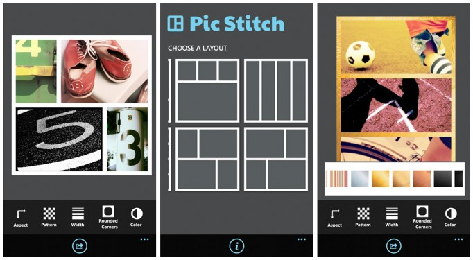 app bildbearbeitung Collage Fotos microsoft Windows Phone