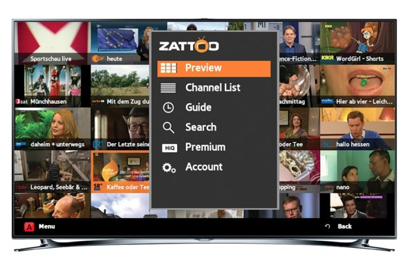 Samsung TV zattoo