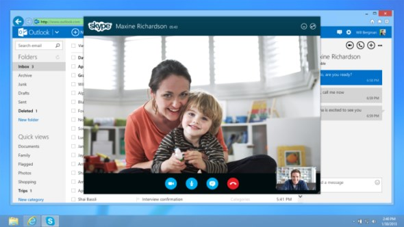 mail microsoft outlook Skype Video