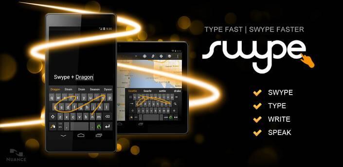 Android swype Tastatur