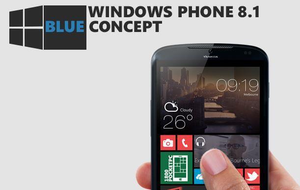 blue Konzept microsoft Windows Phone