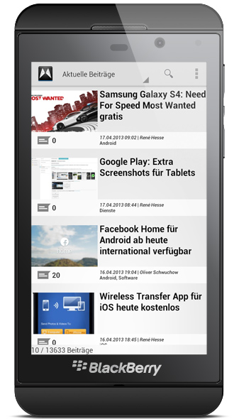 app BlackBerry-Apps