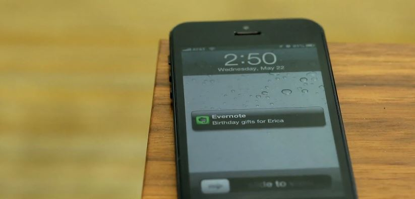 erinnerung evernote iOS mac push reminders