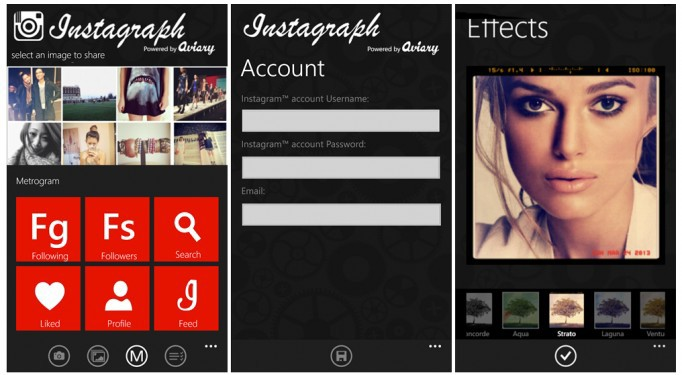 app Fotos instagram social Update upload Windows Phone