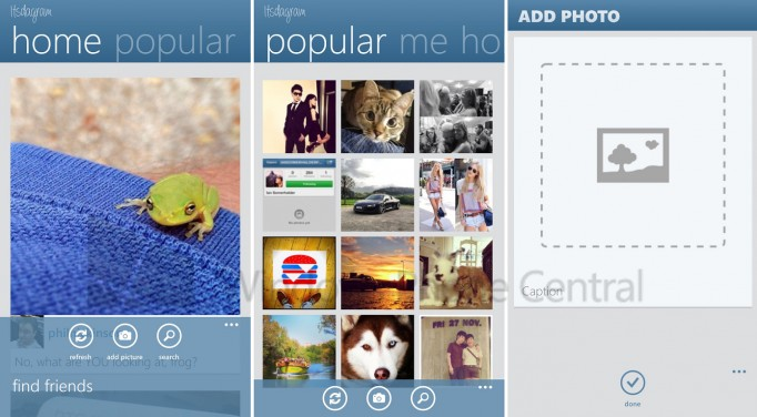 instagram Nokia Windows Phone