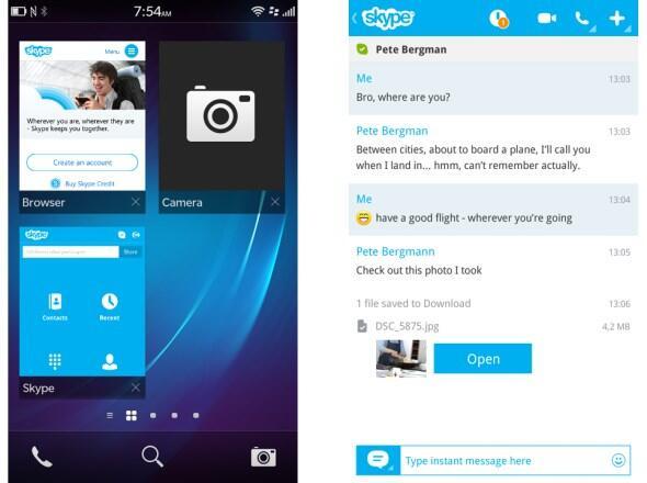 BlackBerry-Apps rim Skype