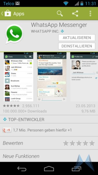 Android Messenger whatsapp