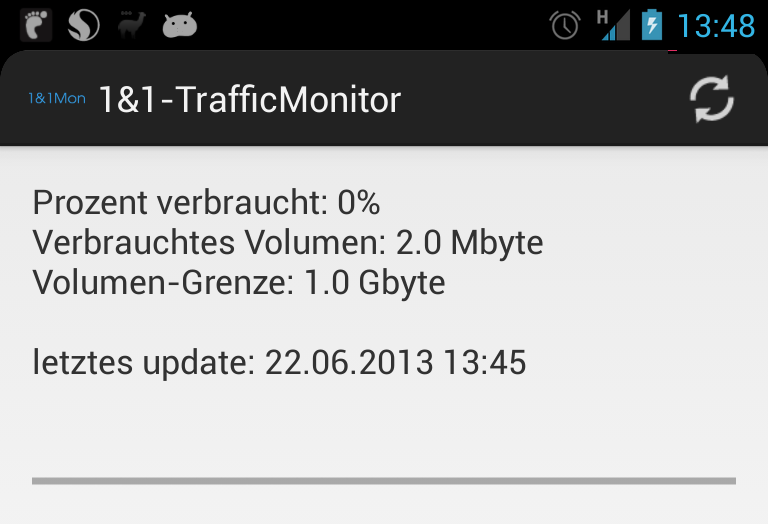 1und1 Android Tool traffic Vodafone