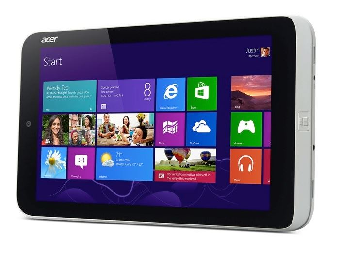 Acer iconia w3 tablet Windows