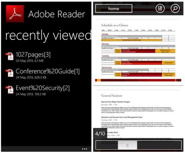 Adobe PDF Windows Phone