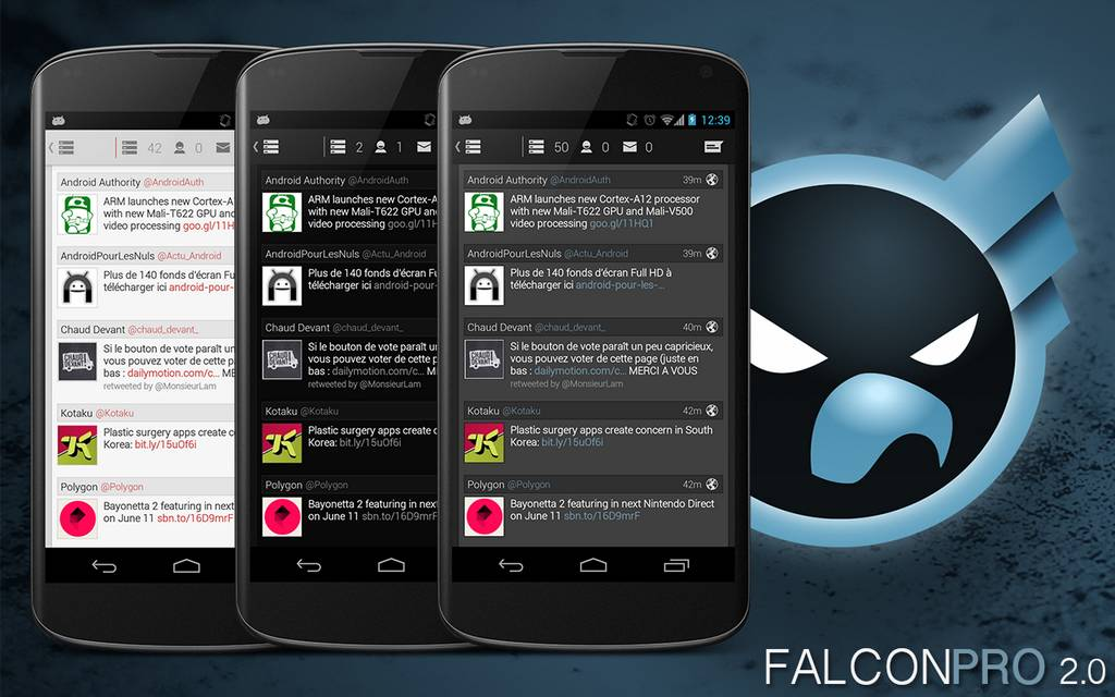 Android Falcon Pro Token-Limit twitter