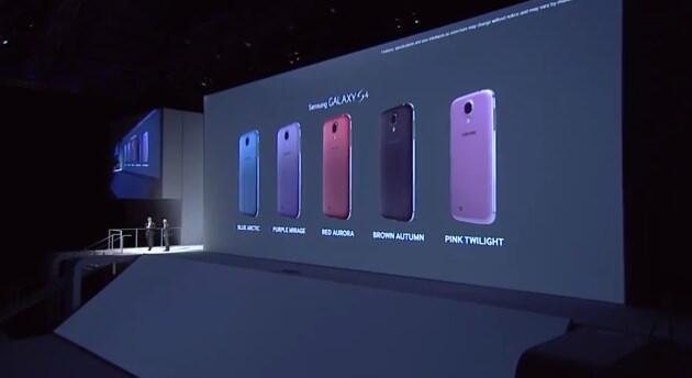 Android farben Galaxy S4 Samsung