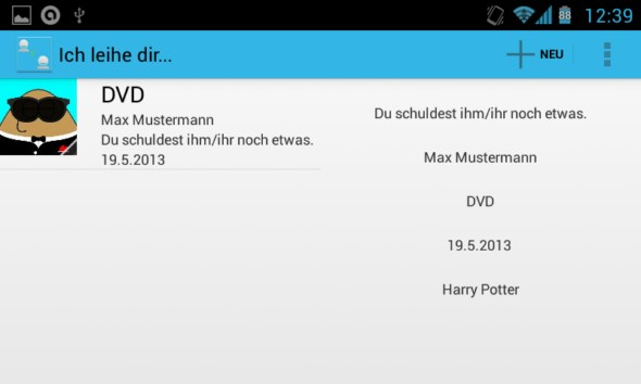 Android app leihen tablet