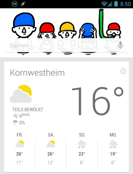 Android doodle Google now