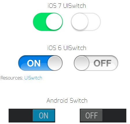 Android design iOS ios 6 ios 7