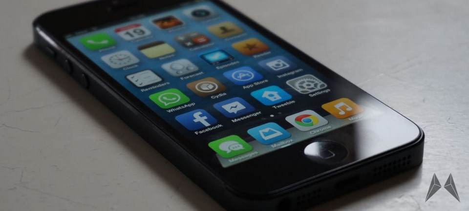 Apple design flat iOS